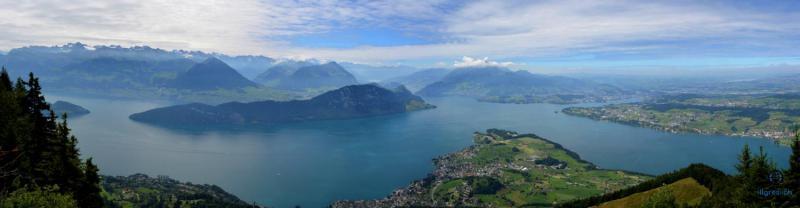 Lac des 4 cantons depuis Rigi (drone) 16.07.2017